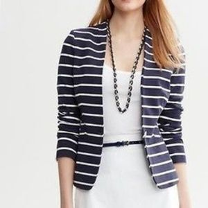 Banana Republic Knit Stripe Blazer 14 Tall